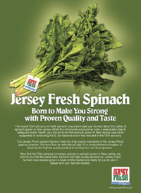 Photo of spinach ad - Click to enlarge