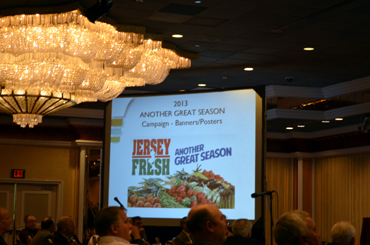 Photo of Jersey Fresh campaign premier at the Agricultural Convention