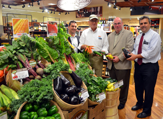 Photo of Secretary Fisher at Kings supermarket