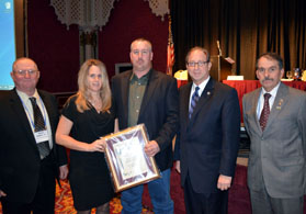 Photo of Henry DuBois, Joy and Duce Tallamy, Secretary Fisher and Jim Giamarese - Click to enlarge