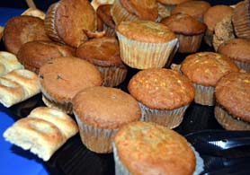 Photo of whole grain muffins and baglers - Click to enlarge
