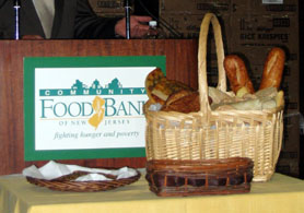 Photo of Community FoodBank Basket of Bread - Click to enlarge