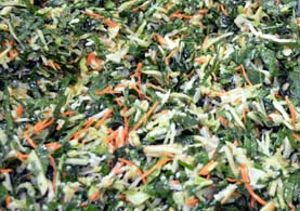 Photo of broccoli leaf slaw - Click to enlarge