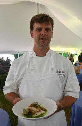 Photo of Christopher Albrecht with his winning dish