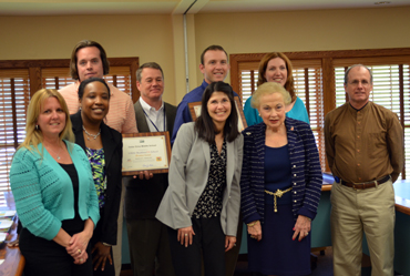 Photo of Colts Neck Schools group receiving their HUSSC awards.