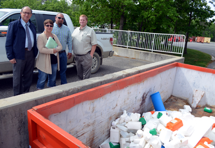 Photo of plastic pesticide container recycling day in Cumberland County