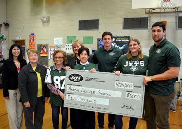 Photo of the Aaron Decker School Jets check presentation
