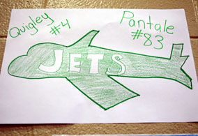 Photo of a welcome picture for the Jets - Click to enlarge