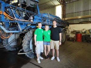 Photo of Eric Nelson, Julianne Robinson and Alec McAlarnen in Argentina