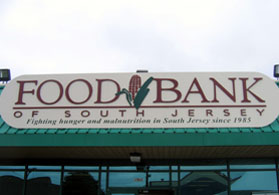 Photo of Food Bank of SJ sign - Click to enlarge