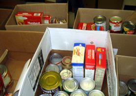 Photo of food pantry items - Click to enlarge