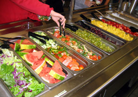 Photo of the Fruit and Salad Bar at Hunterdon Central Reg HS - Click to enlarge