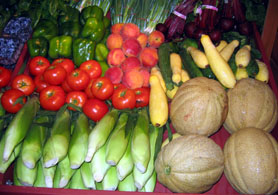 Photo of fruits and vegetables - Click to enlarge