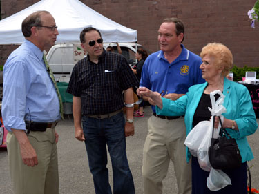Photo of Hasbrouck Heights officials at the farmers market