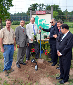 Photo of officials planting at Wightmans Farms