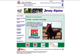 Jersey Equine Web Page Screen Shot - Click to enlarge