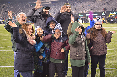 West NY School Students and Teachers on Field - Click to enlarge
