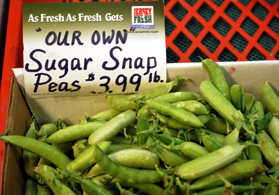 Photo of correctly branded JF snap peas - Click to enlarge