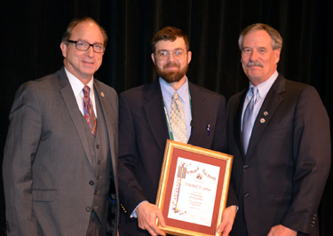Photo of Secretary Fisher, Mitchell Jones and Rob Swanekamp