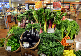 Photo of a Jersey Fresh display at Kings supermarket in Ridgewood - Click to enlarge