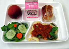 Photo of a school lunch tray - Click to enlarge