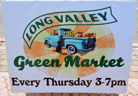 Photo of the Long Valley Green Market sign - Click to enlarge