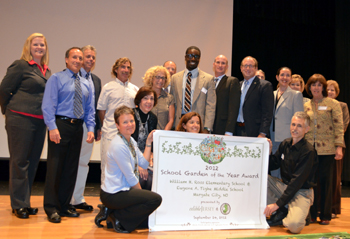 Photo of Margate City Schools accepting their school garden award