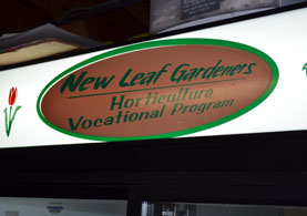 Photo of New Leaf Gardeners sign - Click to enlarge