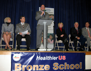 Photo of dignitaries at Osage Elementary School ceremony