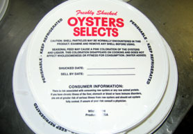 Photo of the top of an oyster tub - Click to enlarge