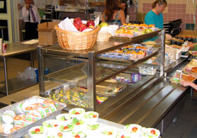 Photo of school lunch room - Click to enlarge