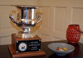 Photo of the Jersey Seafood Challenge trophy and dish - Click to enlarge