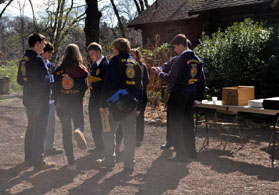 Photo of FFA members participating in Spring CDE - Click to enlarge