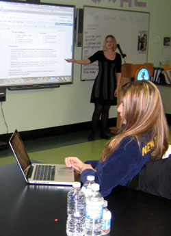 Photo of Tiffany Morey teaching a CASE lesson