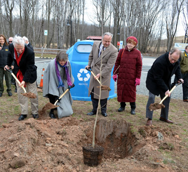 Photo of Asian longhorned beetle ceremonial tree planting