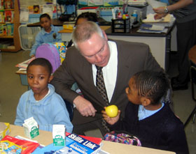 Photo of Acting Secretary Murray at Harriet Tubman School