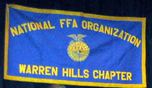 Photo of Warren Hills FFA banner - Click to enlarge