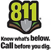 Call before you dig - 811 or 800-272-1000