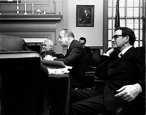 Photo of Richard J. Sullivan (right), DRBC alternate commissioner from N.J. (1970-1974).
