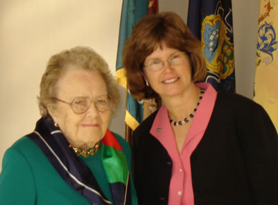 Dr. Ruth Patrick & DRBC Executive Director Carol Collier at the 2005 event honoring Dr. Patrick.