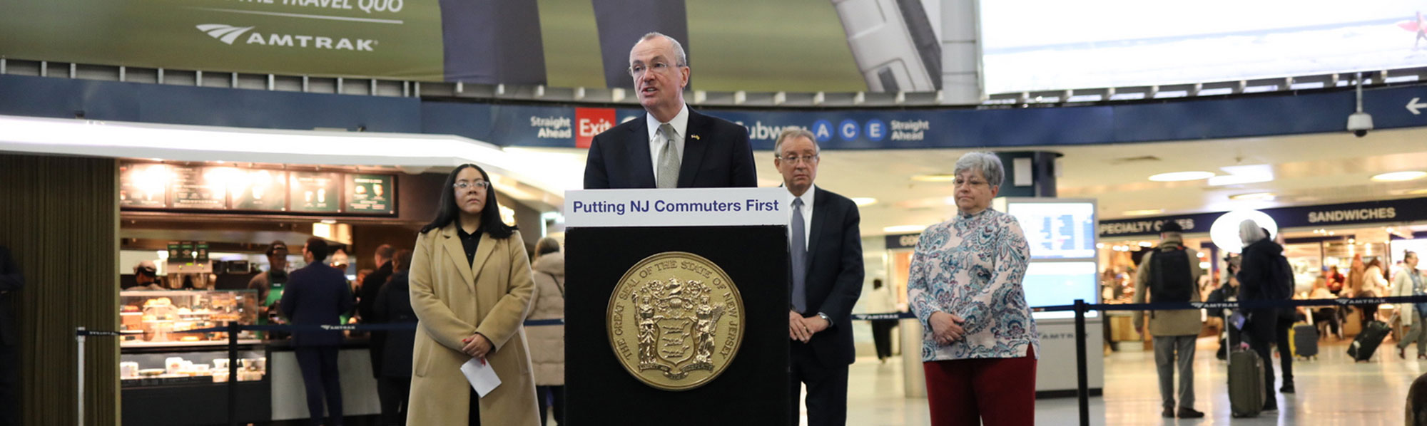 Governor Phil Murphy at New York Penn Station