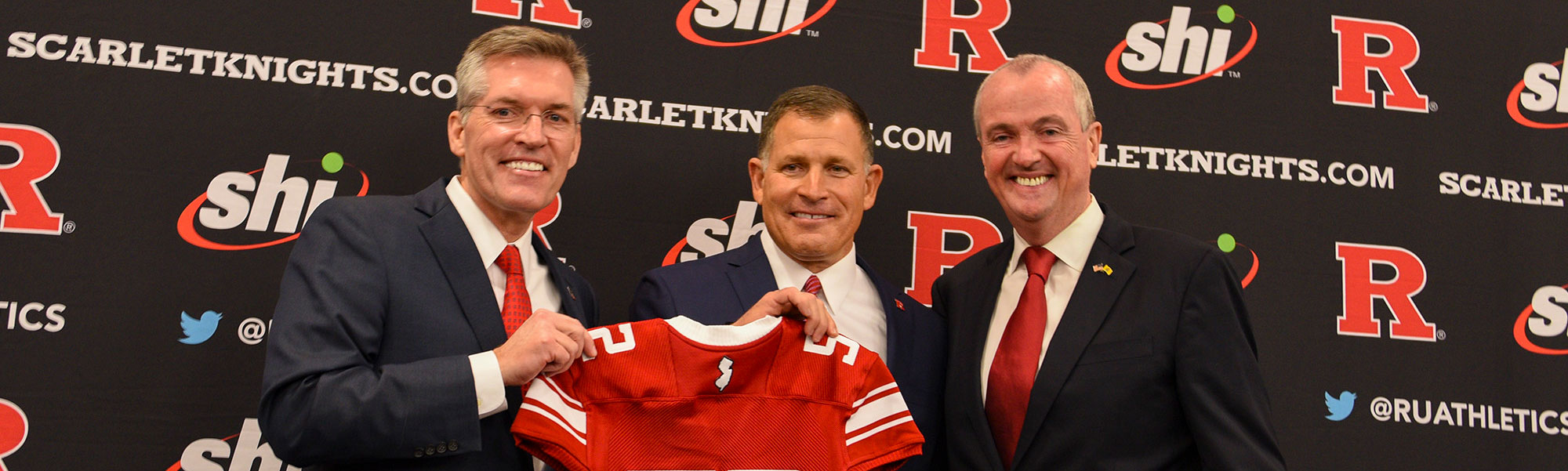 photo; Governor Phil Murphy  and coach Greg Schiano