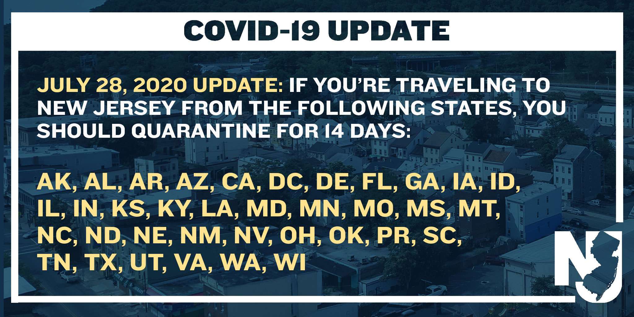 Updated Quarantine Advisory Issued for 36 States and Territories Include Alaska, Alabama, Arkansas, Arizona, California, Delaware, District of Columbia, Florida, Georgia, Iowa, Idaho, Indiana, Illinois, Kansas, Kentucky, Louisiana, Maryland, Minnesot
