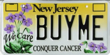 Conquer Cancer specialty license plate
