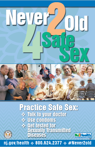 Never 2 Old 4 Safe Sex poster in English