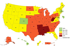 State's Adults Among Least Obese in U.S.