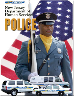 Human Services Police at attention