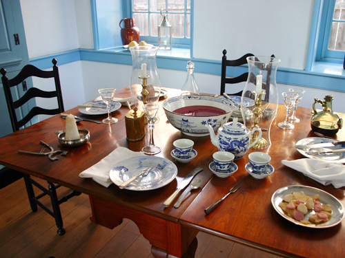 The dining area of the Old Barracks officers' quarters