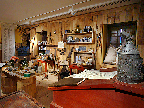 One of the Old Barracks' exhibits - Recreation of a general store