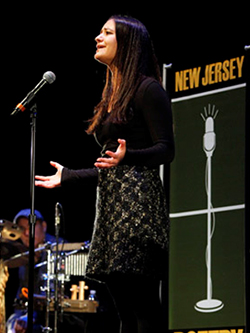 2014 New Jersey Poetry Out Loud State Champion Natasha Vargas at the State Finals at NJPAC